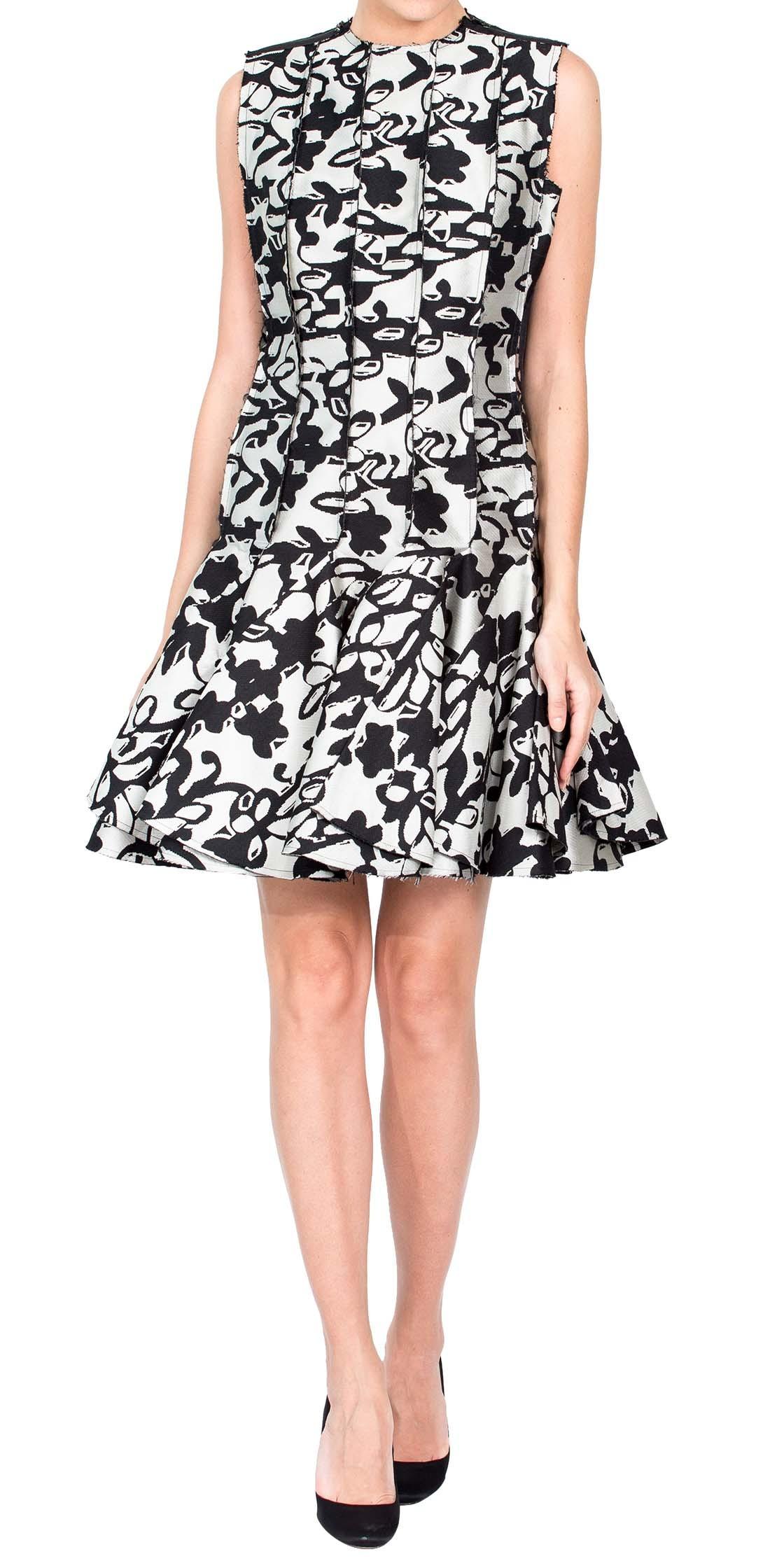 Lanvin Printed Pleated Dress