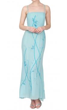 Angelo Mozzillo Embellished Silk Dress
