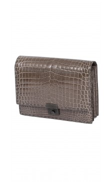 Bottega Veneta Textured Flap Clutch Bag