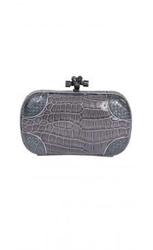 Bottega Veneta The Knot Hard Case Clutch
