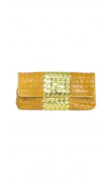 Bottega Veneta Woven Flap Clutch
