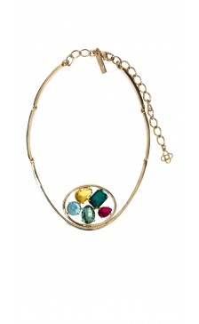 Oscar De la Renta Multicolor Crystal Necklace
