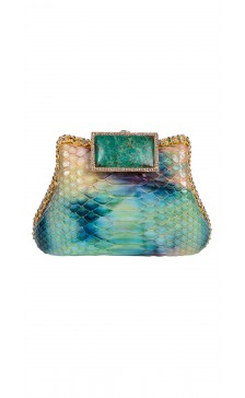 Edidi Embellished Hard Case Clutch