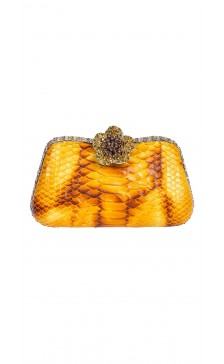 Edidi Textured Stone Embellished Clutch