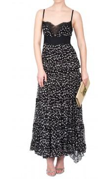 Elie Saab Printed Ruffled Dress