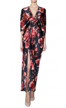 Naeem Khan Silk floral dress