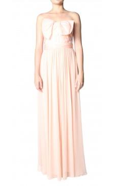 Marchesa strapless organza bow gown
