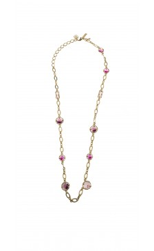 Oscar De la Renta Crystal Chain Necklace