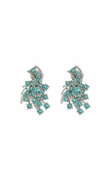 Oscar De la Renta Radiant Crystal Button Earring