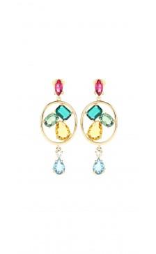 Oscar De la Renta Multicolor Drop Earring