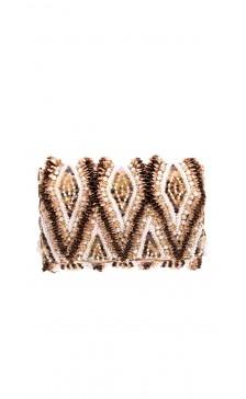 Oscar De la Renta Pearl & Crystal Embellished Clutch