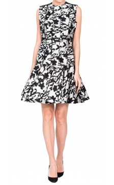 Lanvin Printed Pleated Dress