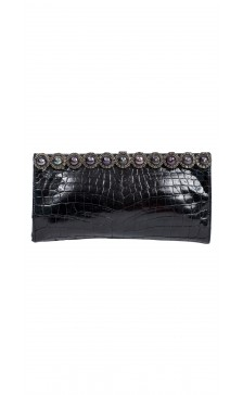 Valentino Textured Embellished Clutch