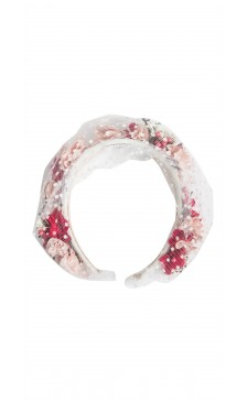 Vivienne Morgan Millinery Tulle Floral Headband