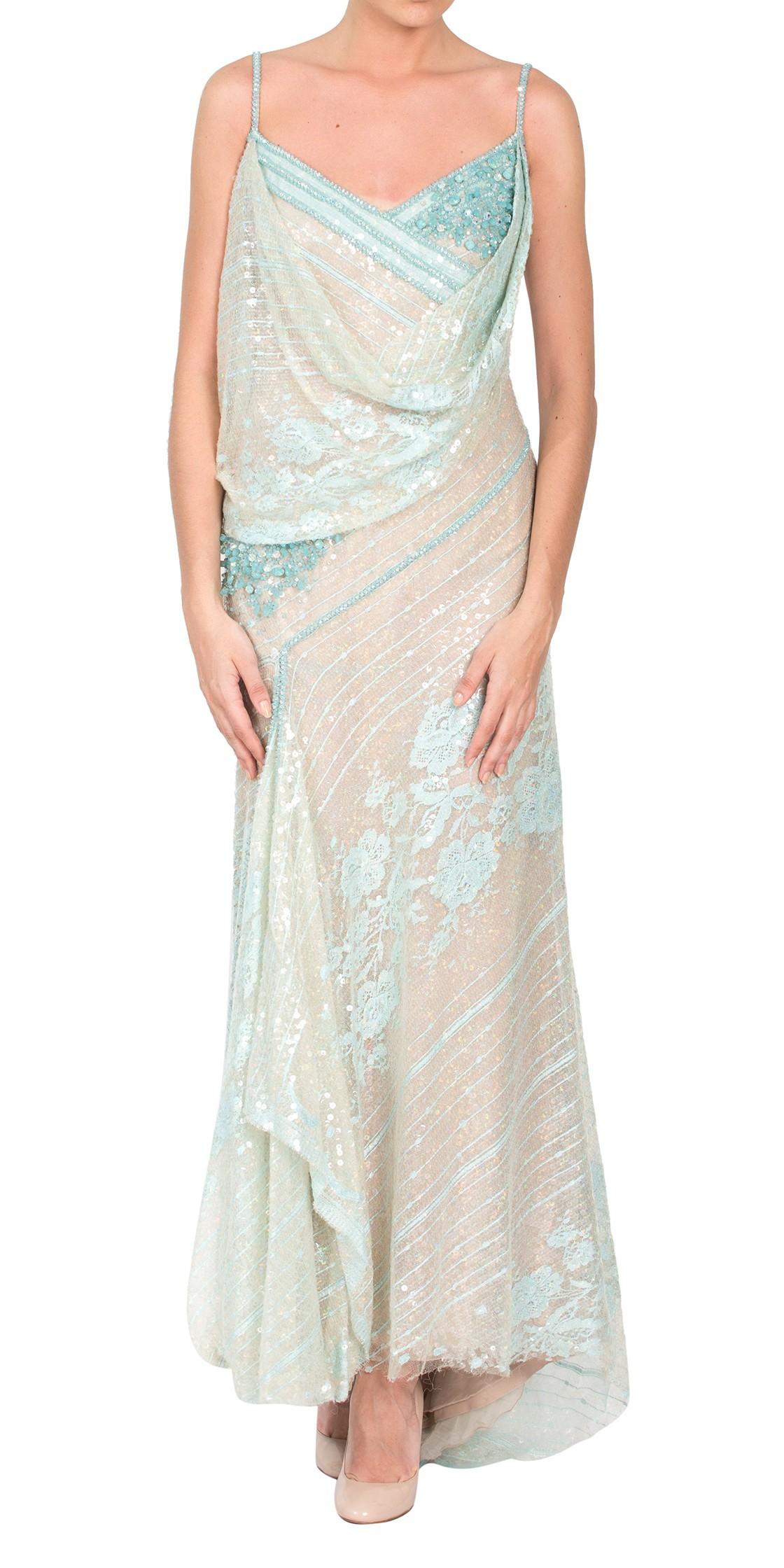 Abed Mahfouz Sequined Sleeveless Dress