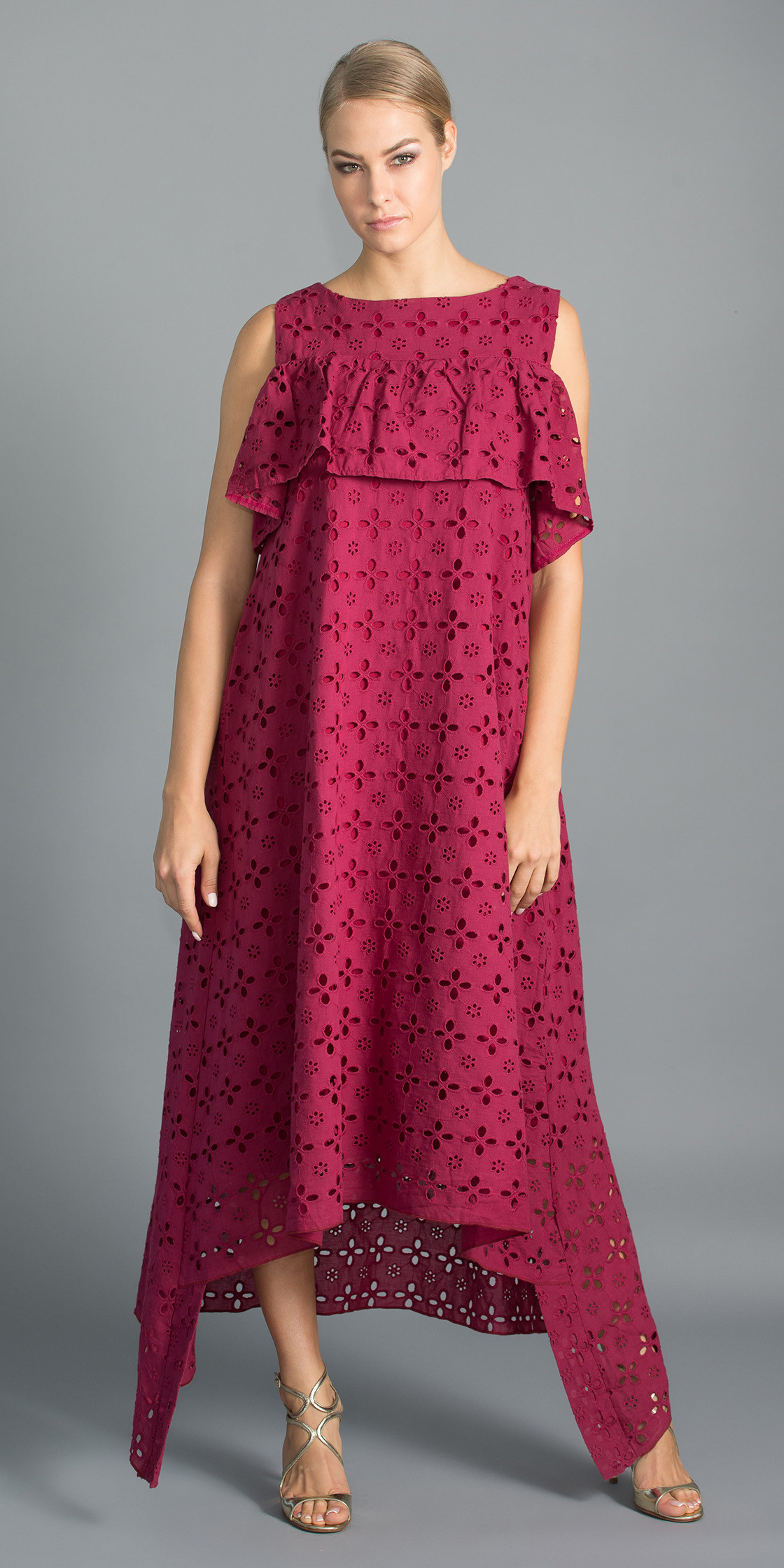 Al Jawhara Lace Ruffled Dress