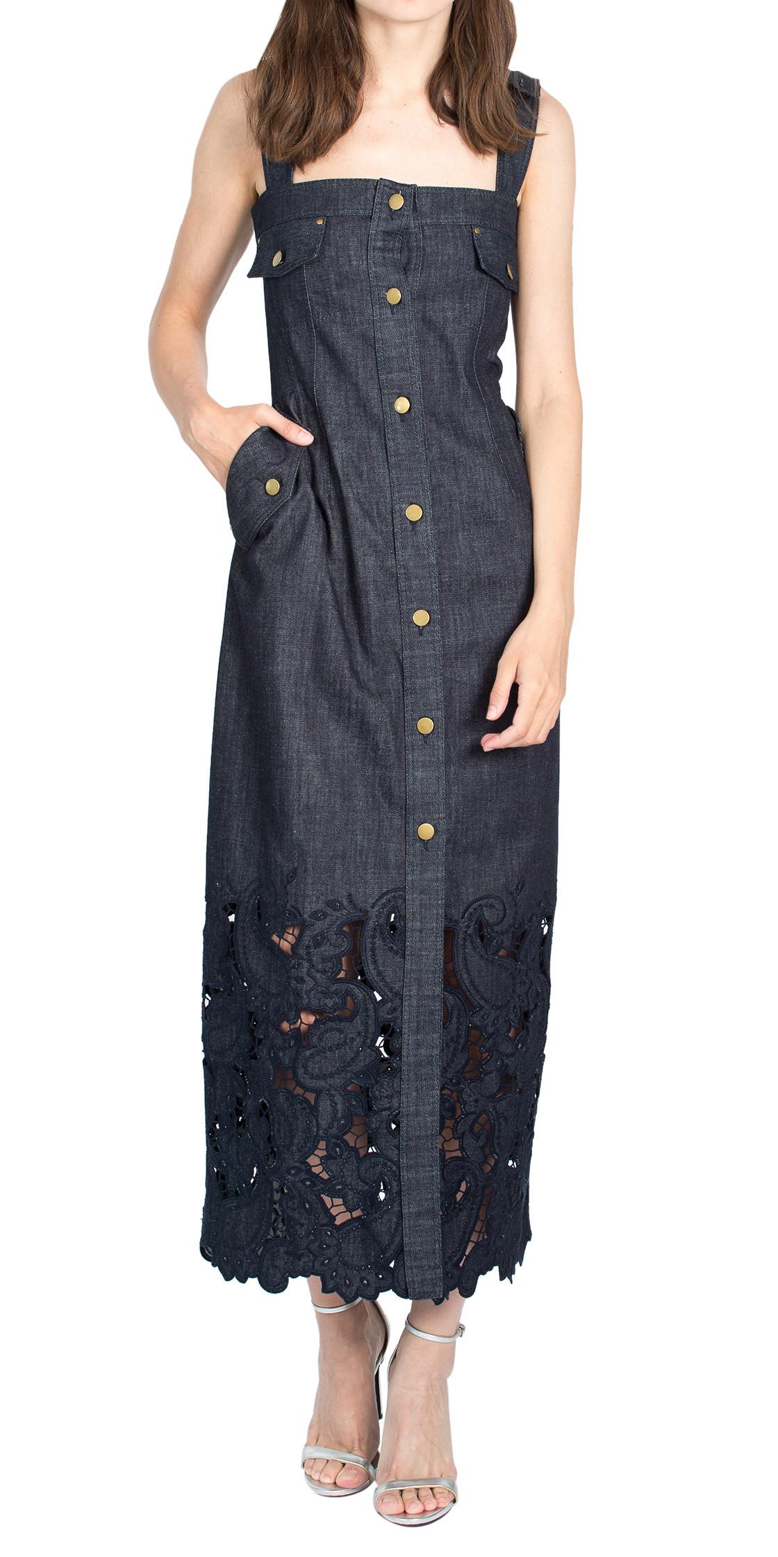 Alberta Ferretti Sleeveless Denim Dress