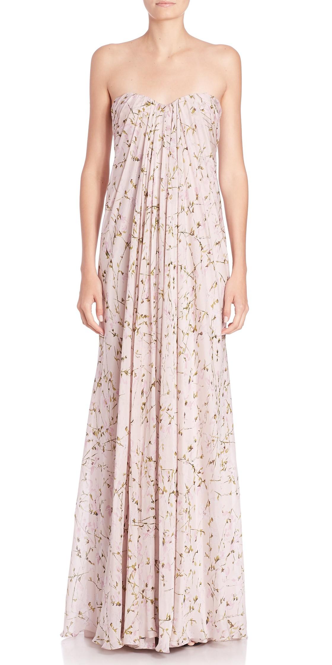 alexander mcqueen strapless silk chiffon gown formal wedding