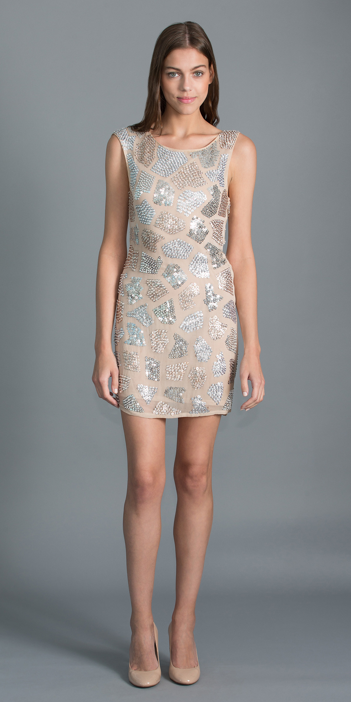 Alice + Olivia Embellished Bodycon Dress