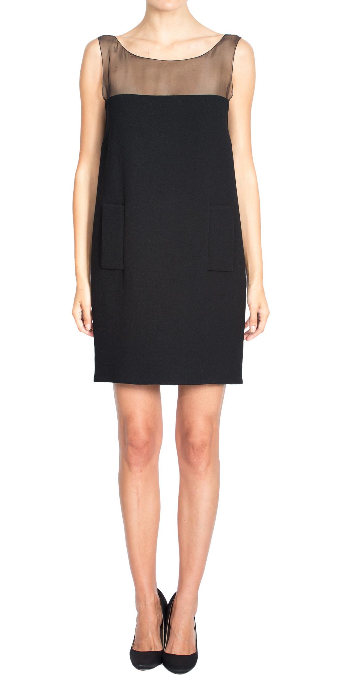 Andrew GN Sheer Sleeveless Dress