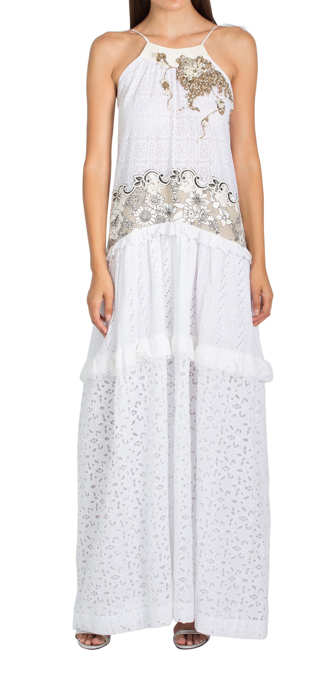 Antonio Marras Lace Ruffled Dress