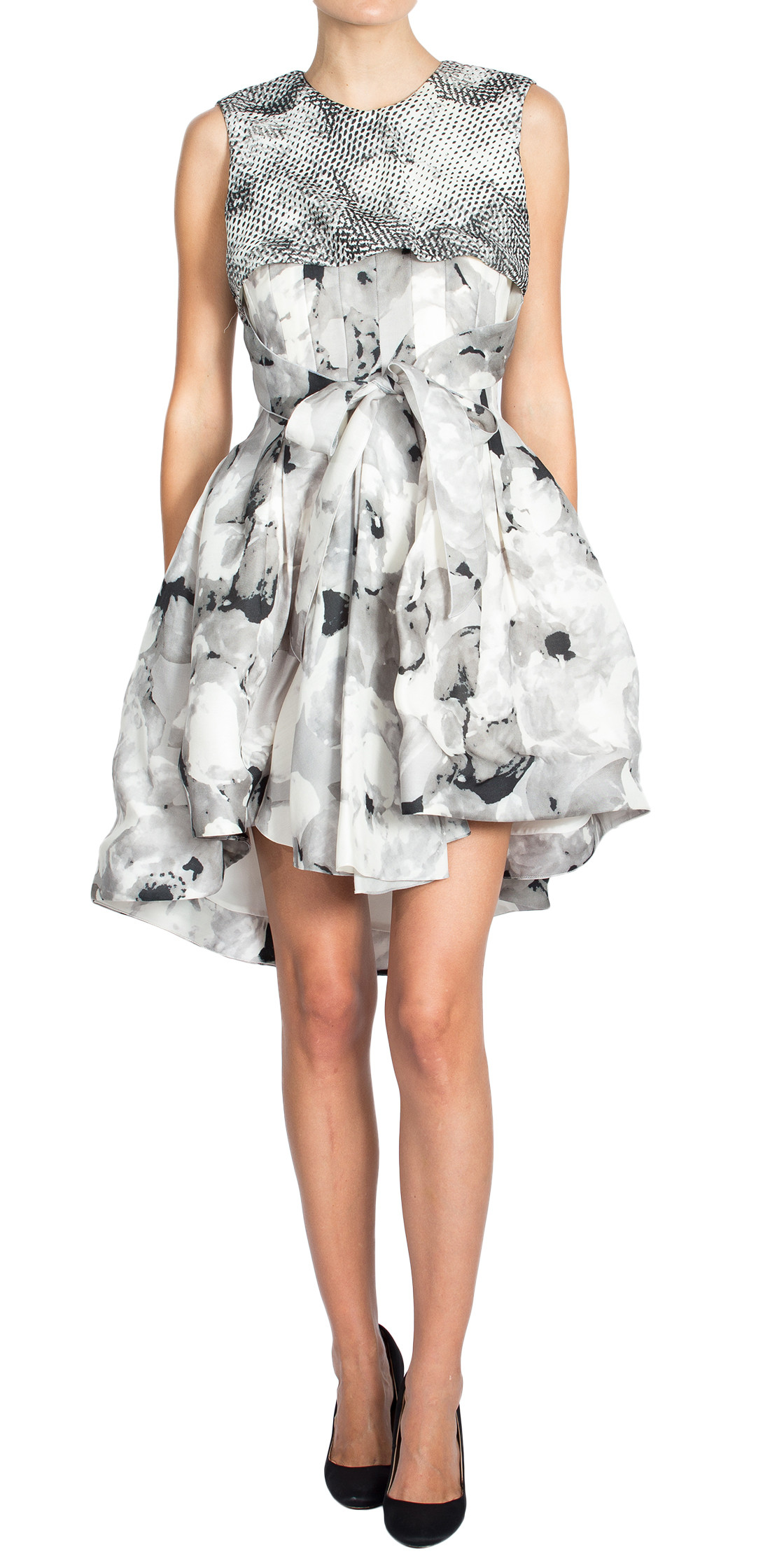 Christian Dior Pleated Print Dress