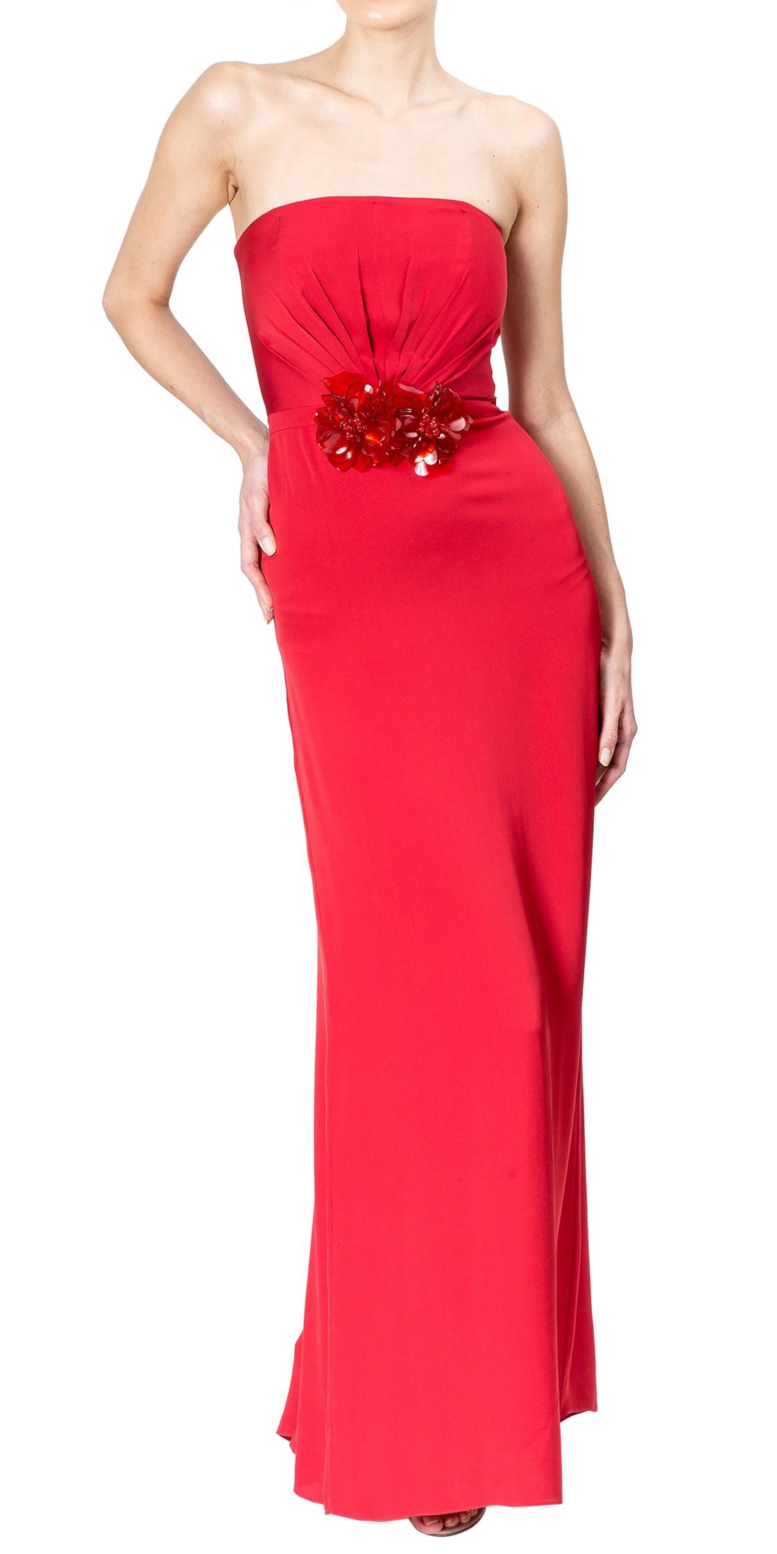 Gucci 3D Floral Strapless Gown | Formal Wedding Dresses Rental | Dubai Rent A Dress - Designer ...