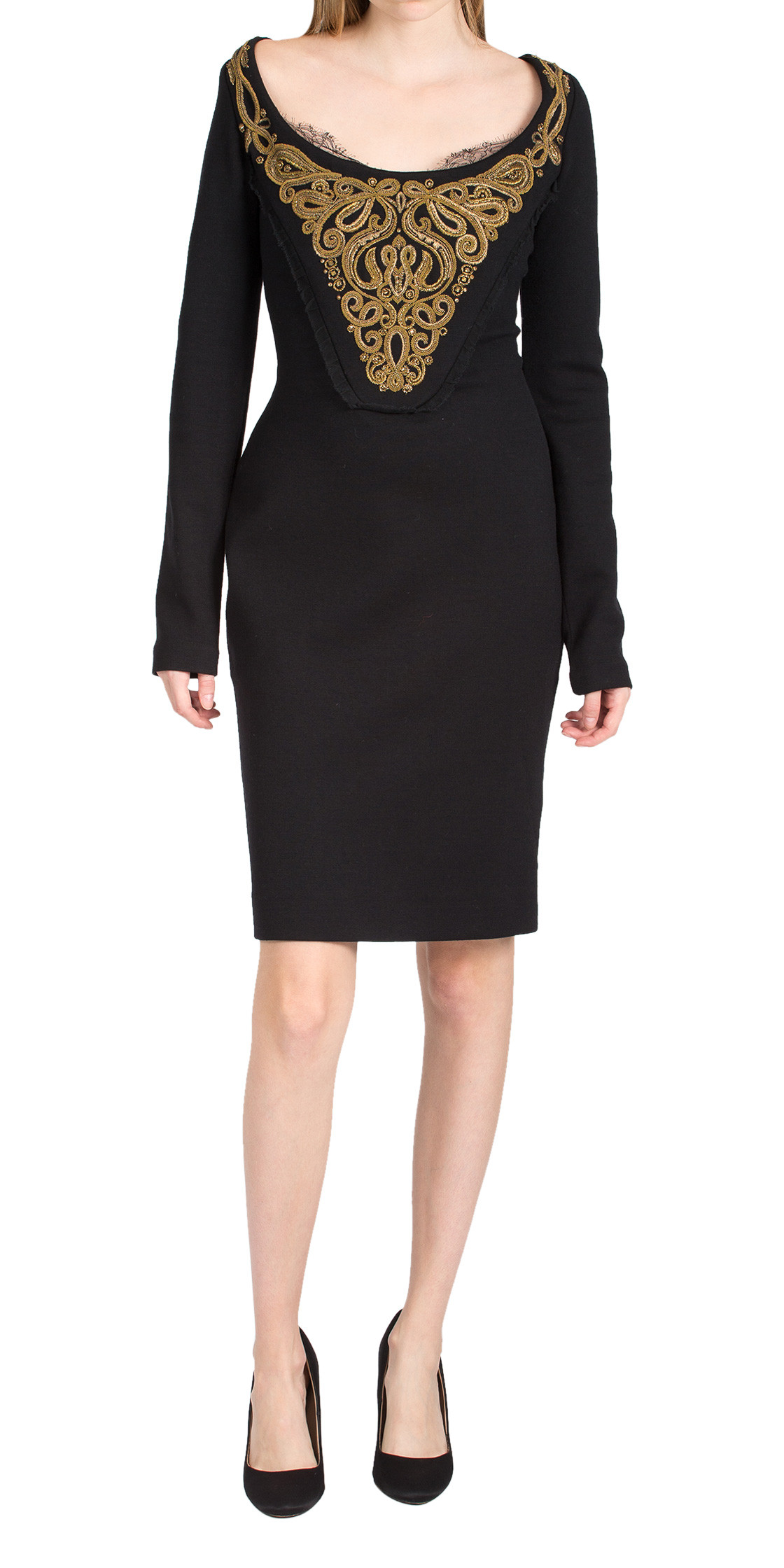 Emilio Pucci Embellished Long Sleeve Dress