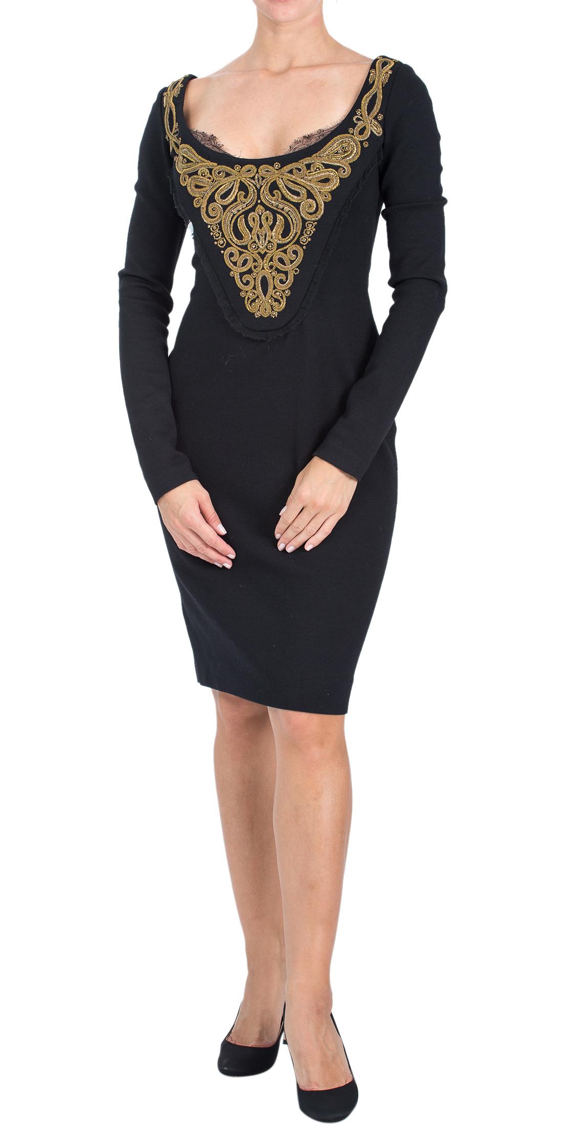 Emilio Pucci Embellished Long Sleeve Dress