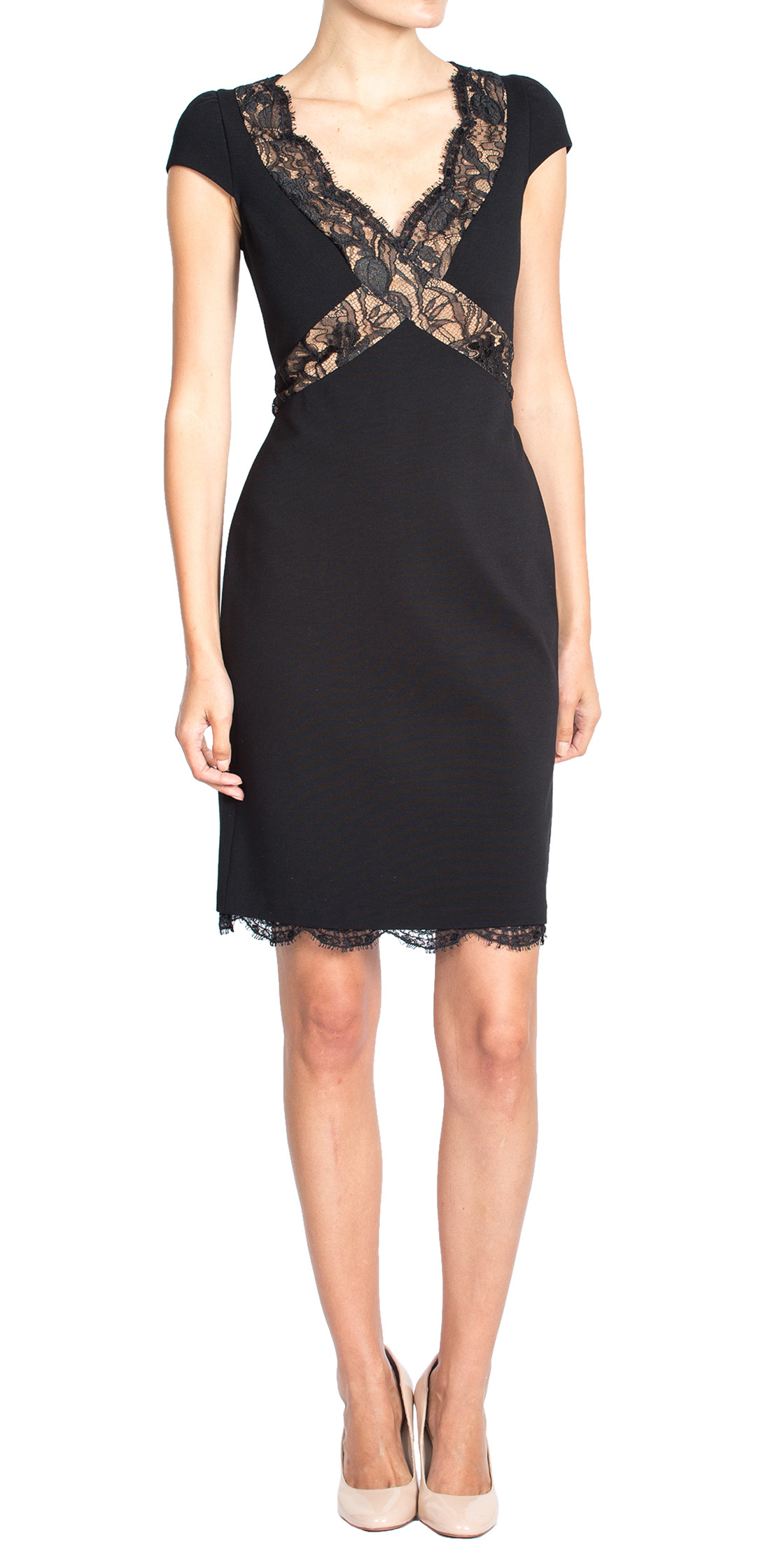 Emilio Pucci Scalloped Neckline Dress