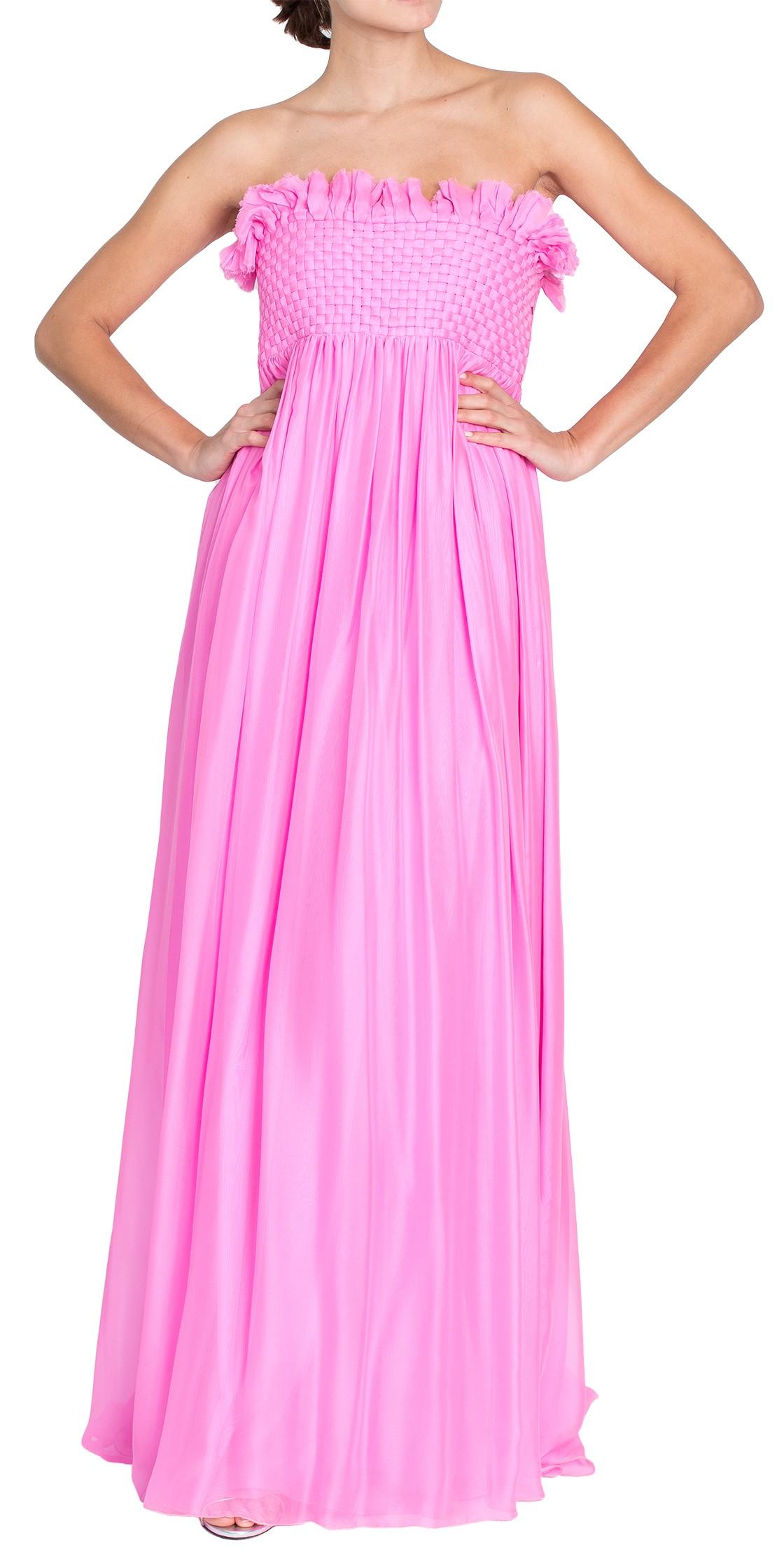 Strapless Silk Gown | Evening Dresses Rental | Dubai Rent a Dress ...
