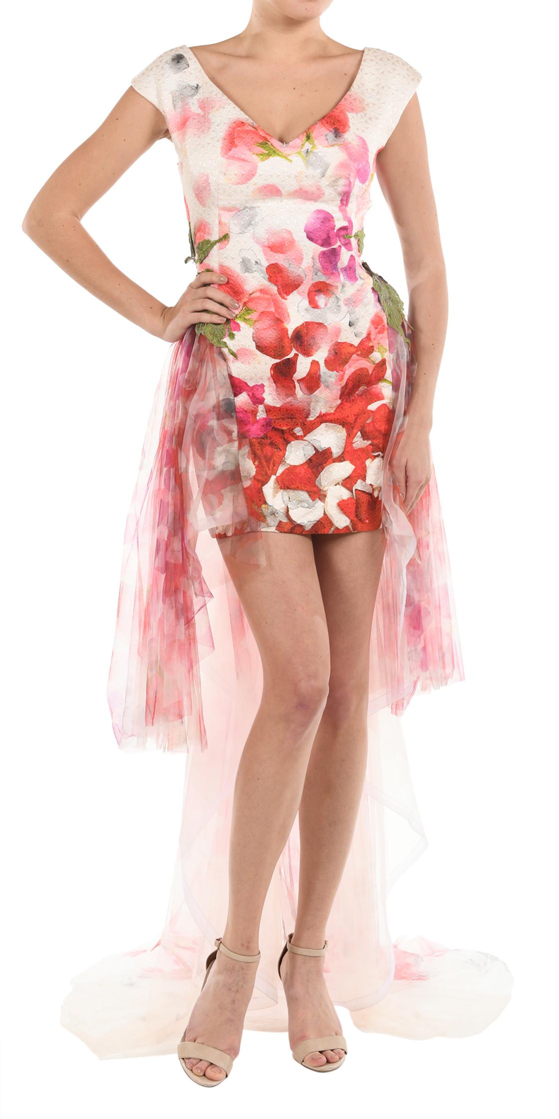 Gemy Maalouf floral gown | Formal Wedding Dresses Rental | Dubai ...