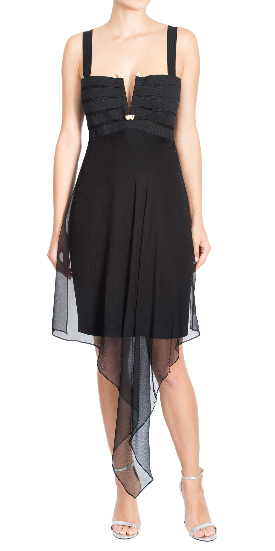 Gianfranco Ferre Bandage Silk Dress