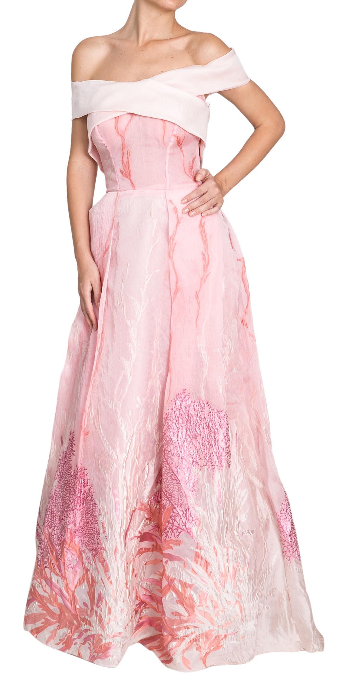 Georges Mak Off The Shoulder Silk-Organza Gown | Formal Wedding ...