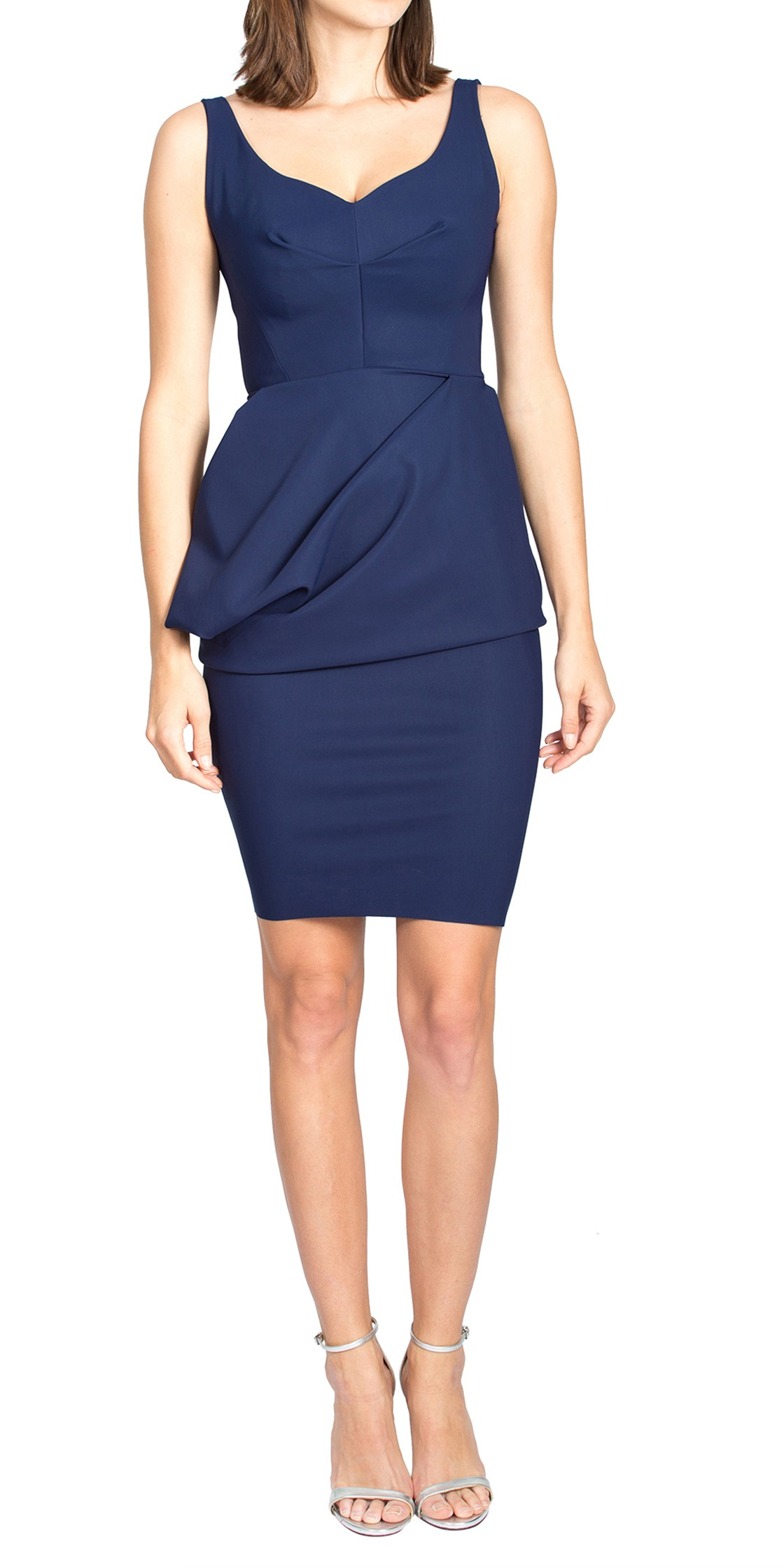 Greta Constantine Asymmetric Sleeveless Dress