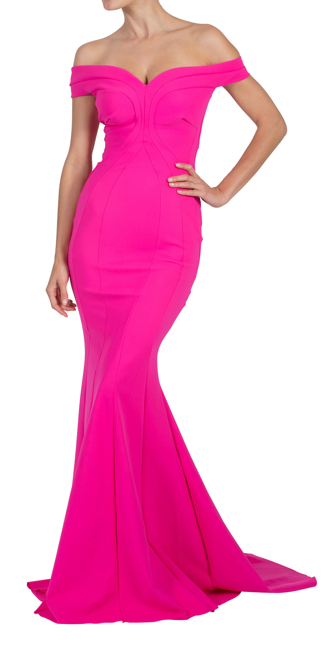 La Petite Robe di Chiara Boni  Off the Shoulder Mermaid Cut Dress