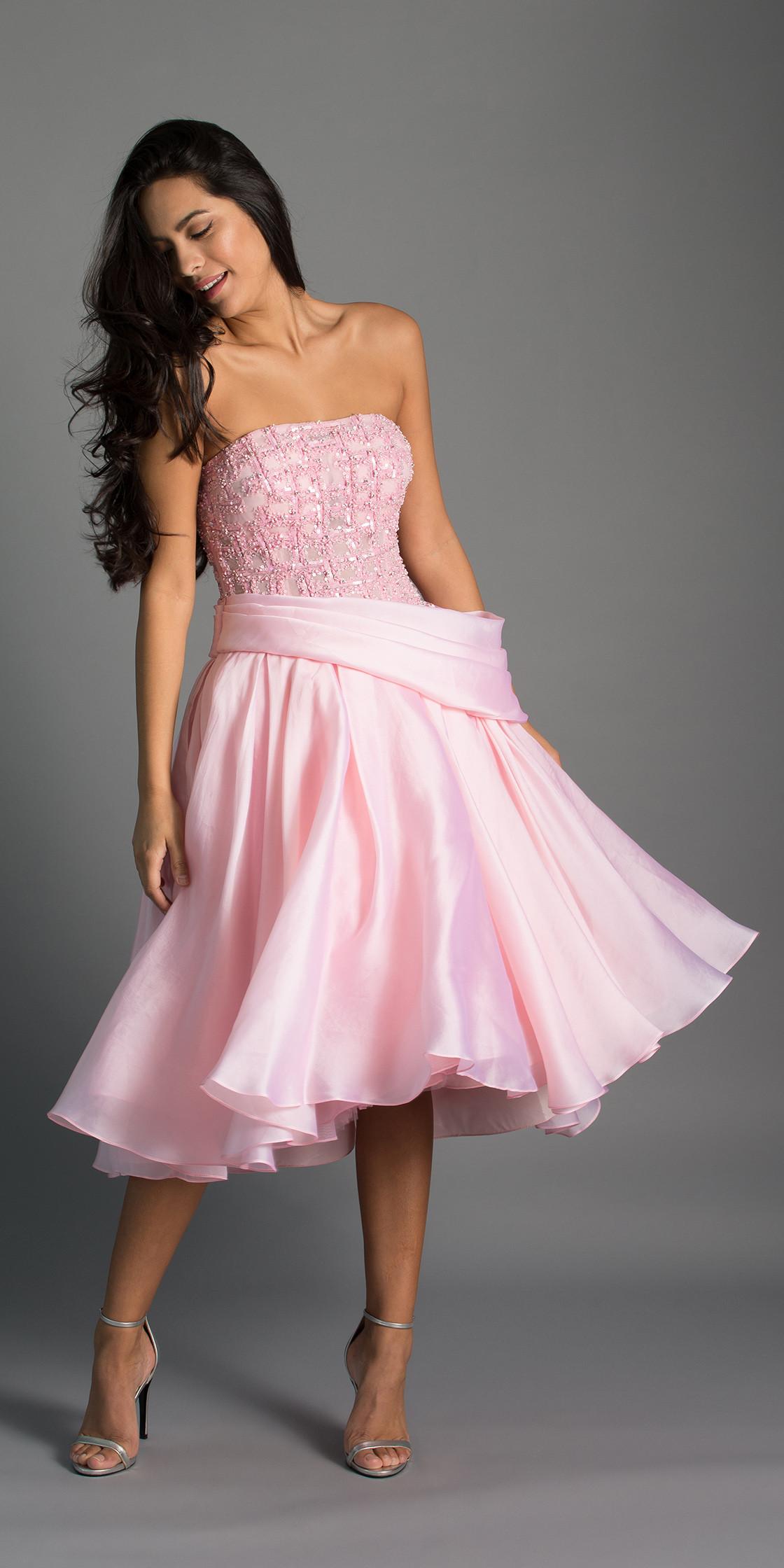 Maison Elegance  Strapless A-Line Dress