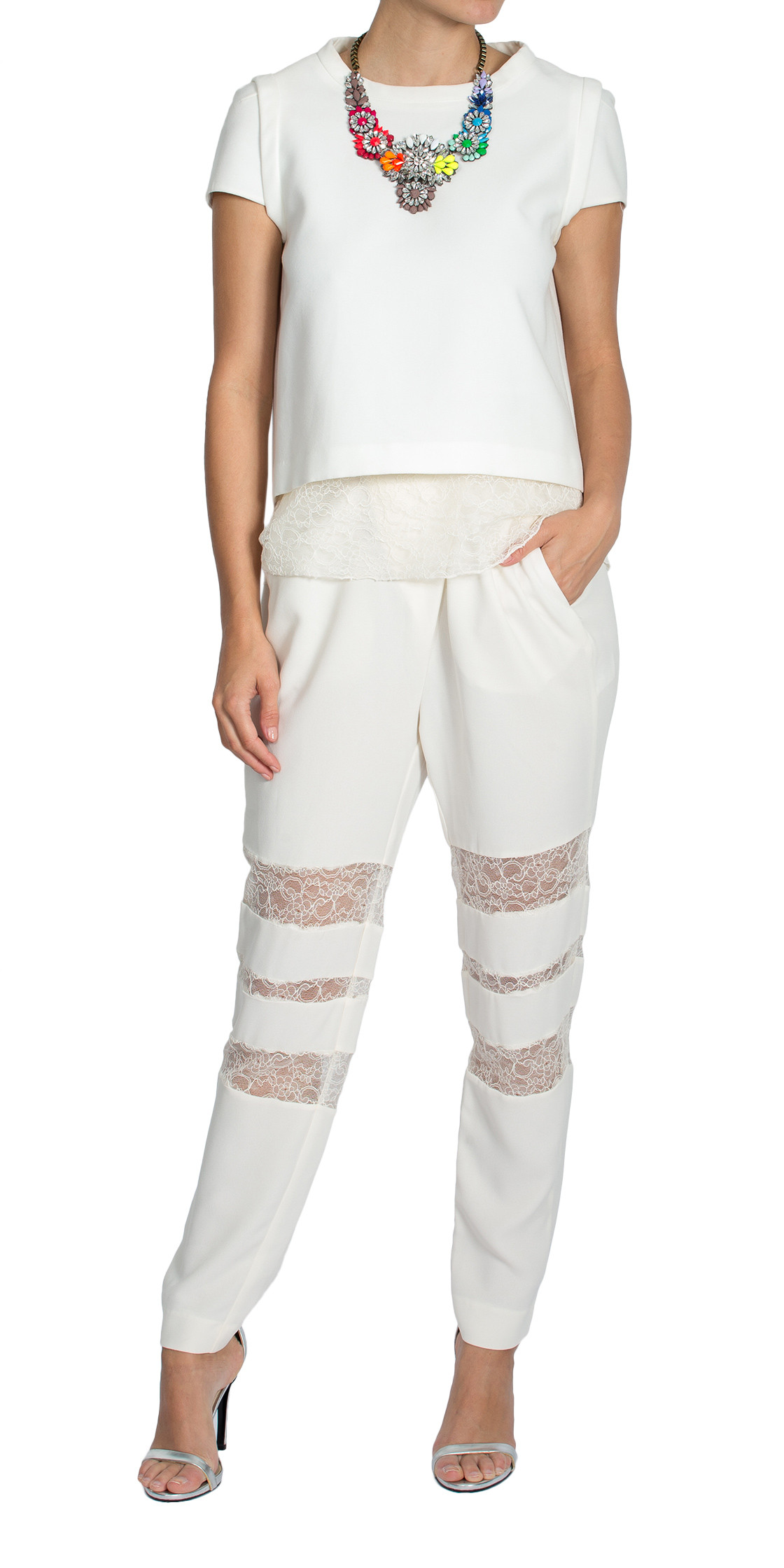 Maje Sheer Lace Tops and Pants