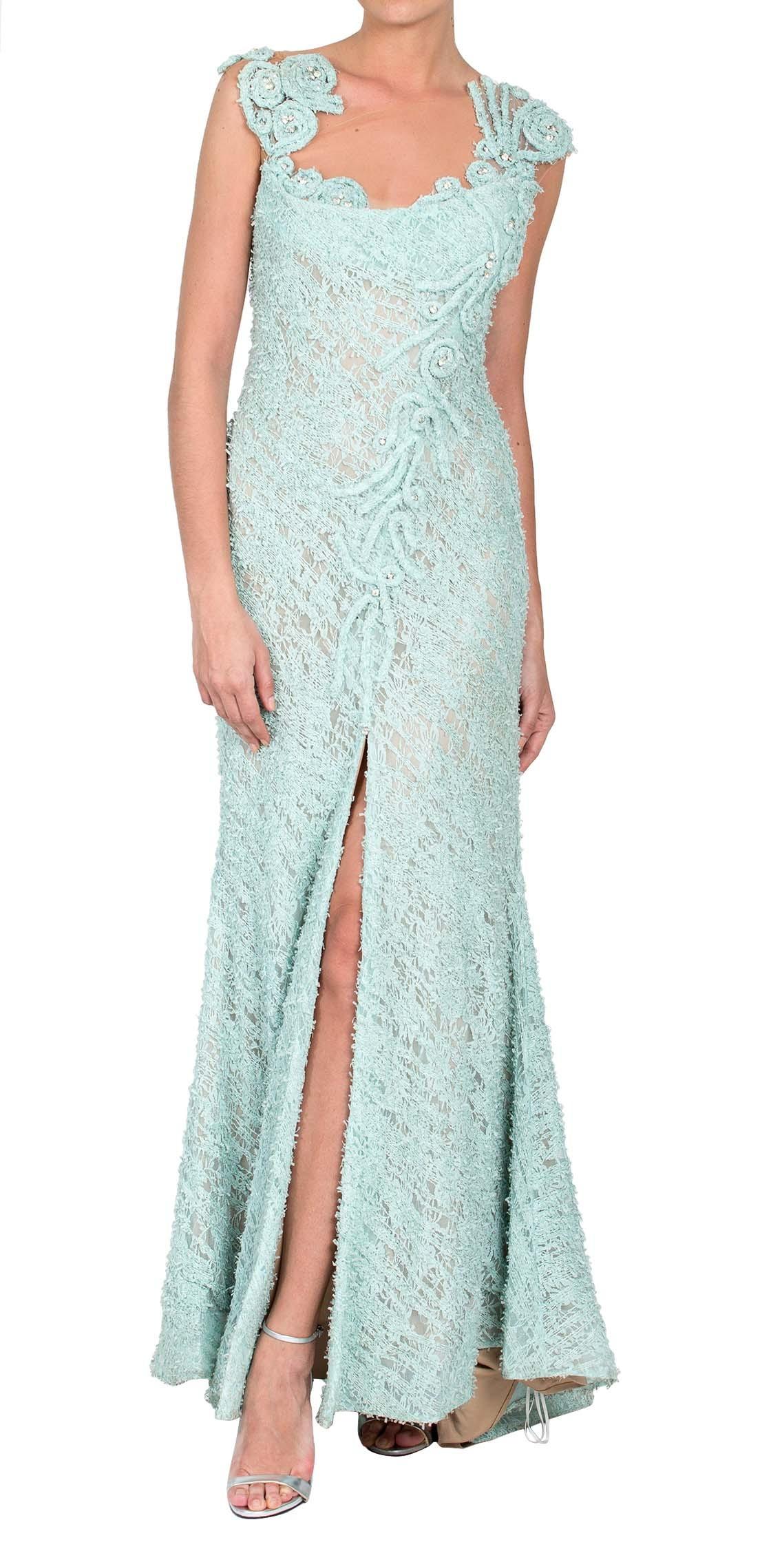 MNM Couture Lace Maxi Dress