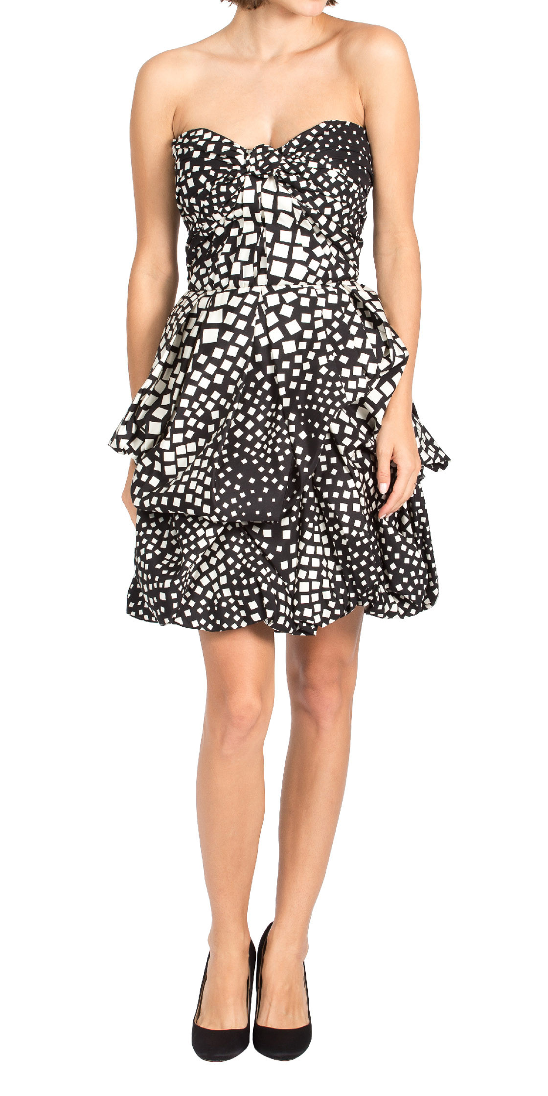 Naeem Khan Strapless Printed Dress