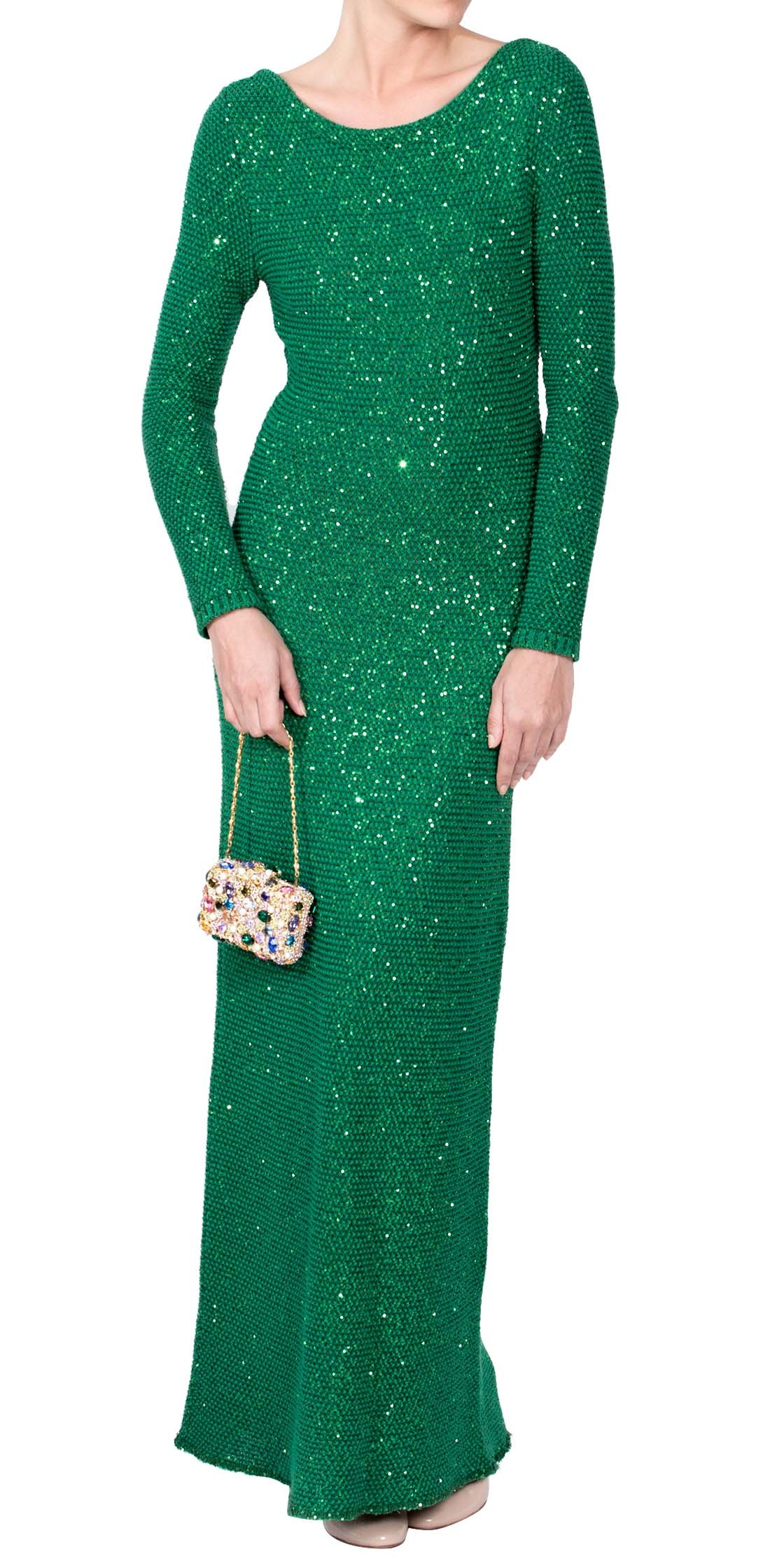 Oscar De la Renta Long Sleeve Knitted Dress