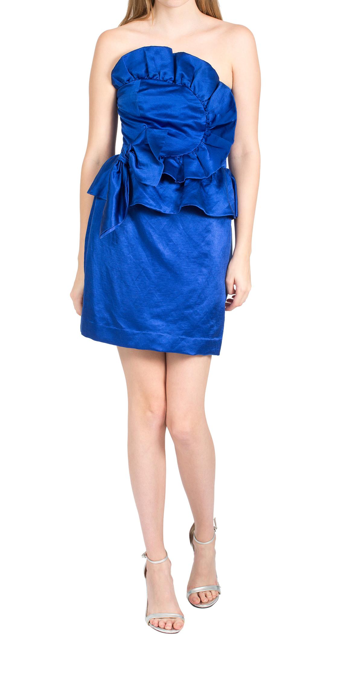 Rebecca Taylor Asymmetric Ruffled Dress