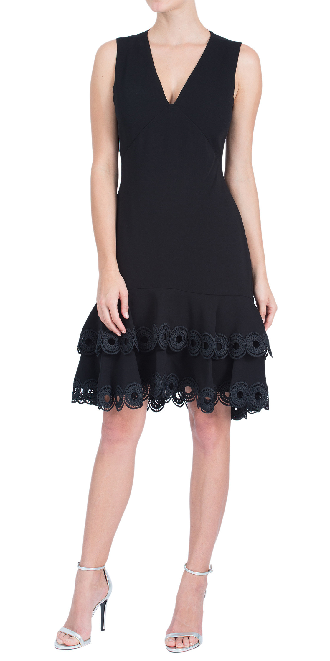 Shoshanna Sleeveless Ruffled Dress