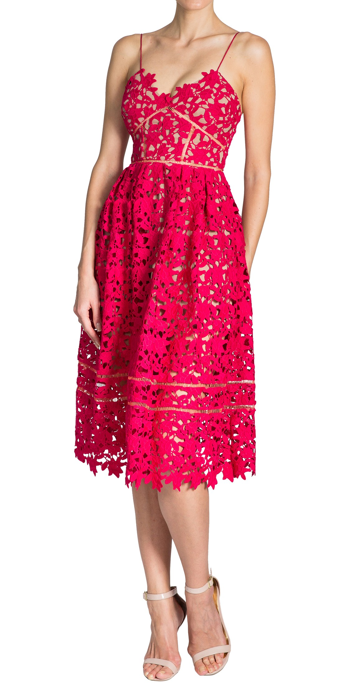 fd0dd2e47d8e Self Portrait - lace midi dress | Cocktail Dresses Rental | Dubai ...