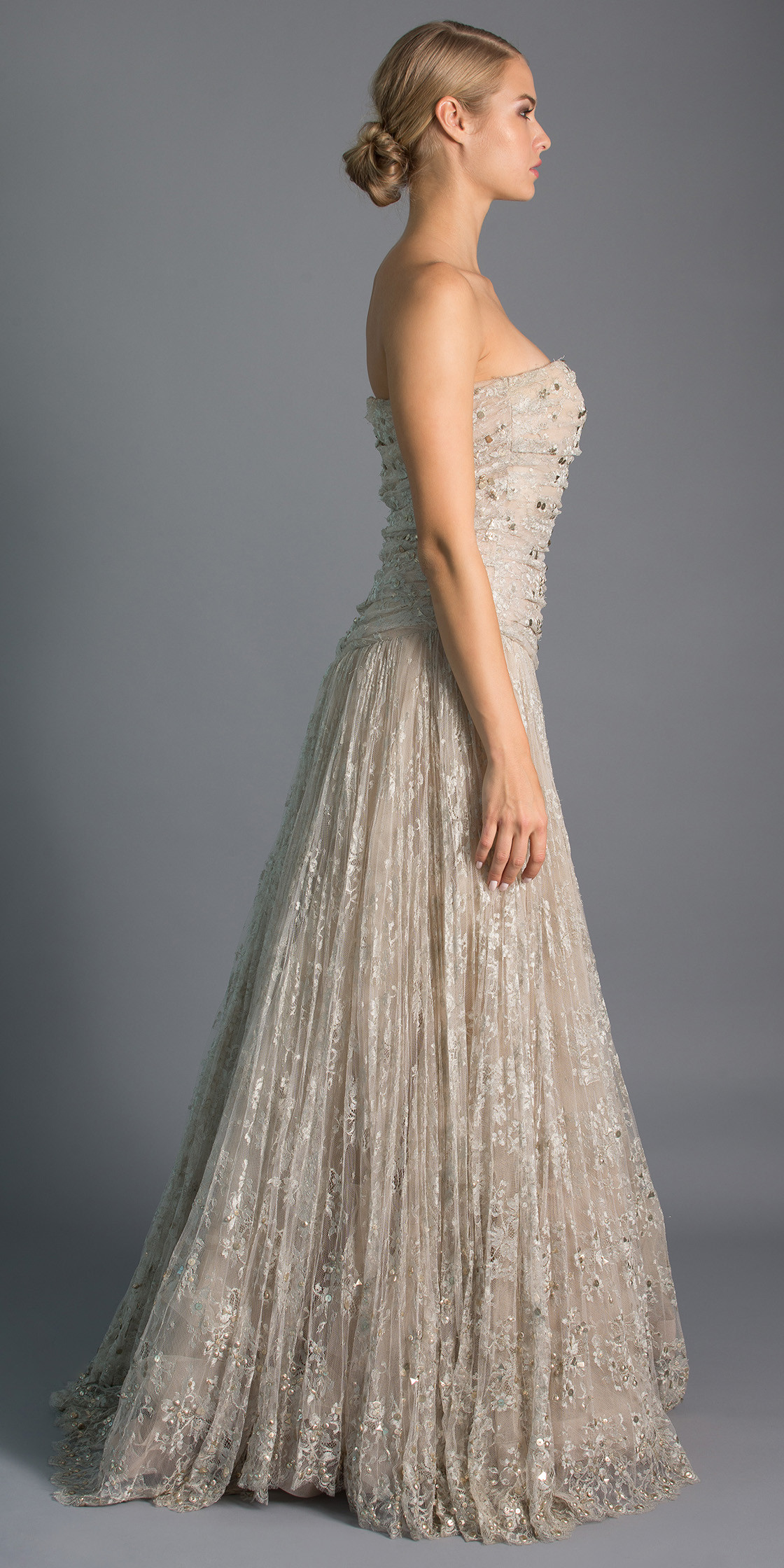 Valentino Strapless Lace Gown | Evening Dress Rental | Lebanon Rent ...