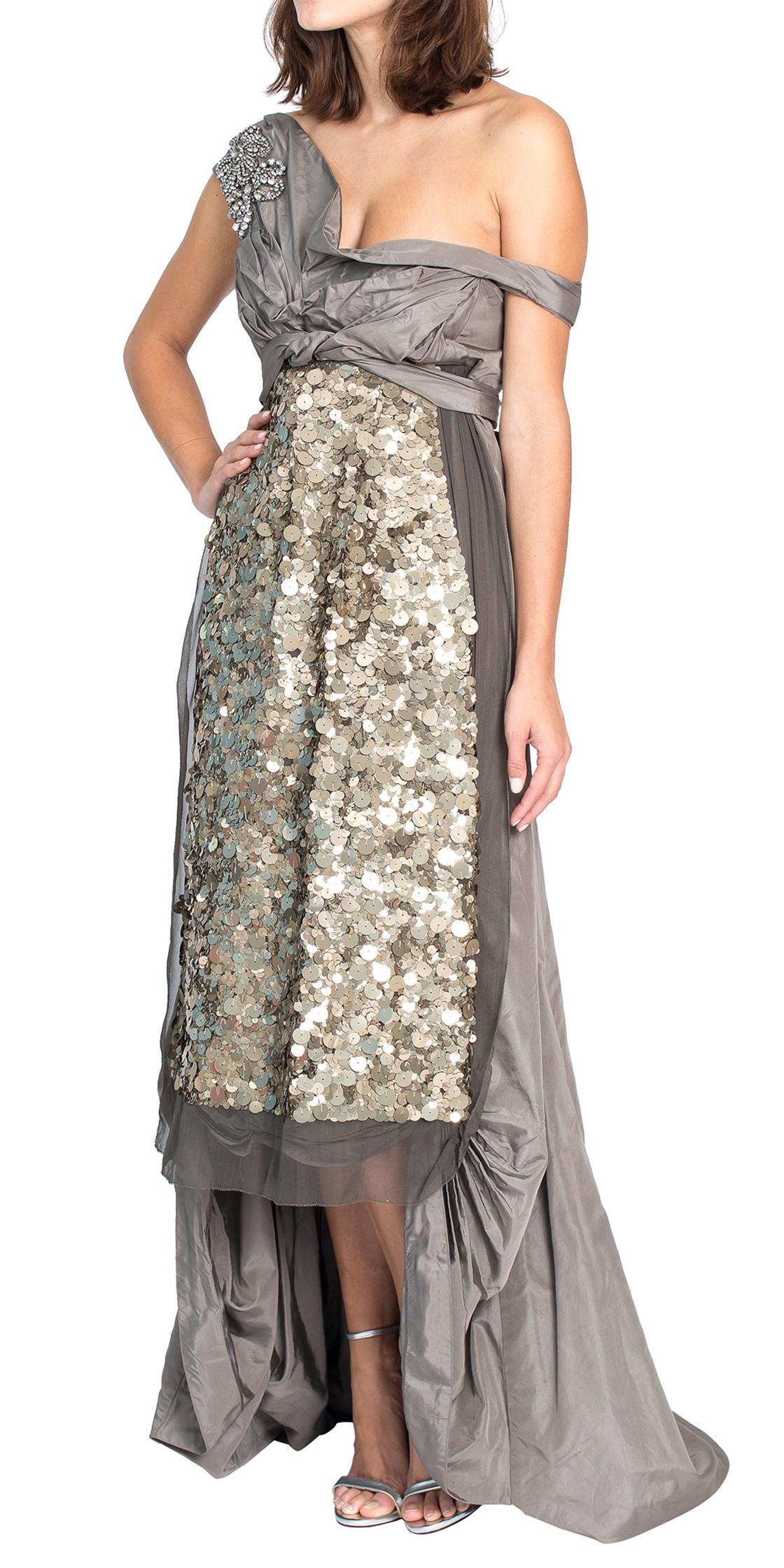 Off the Shoulder Sequined Gown | Evening Dresses Rental | Dubai ...