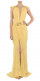 Abed Mahfouz Plunge Neck Grecian Gown