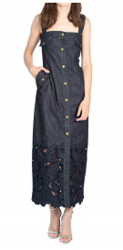 Alberta Ferretti Sleeveless Denim Dress