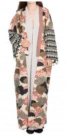 RanaZone Kimono-Print Abaya