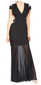 BCBG Maxazria Cutout Sheer Dress